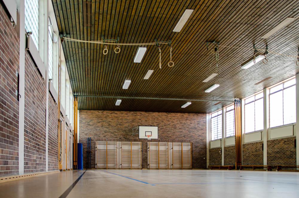 Foto Turnhalle - Blick von unten